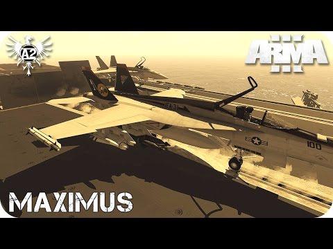 MISIÓN COOPERATIVA | MAXIMUS | F18 SUPER HORNET | ArmA 3 Gameplay Español (1080p HD)