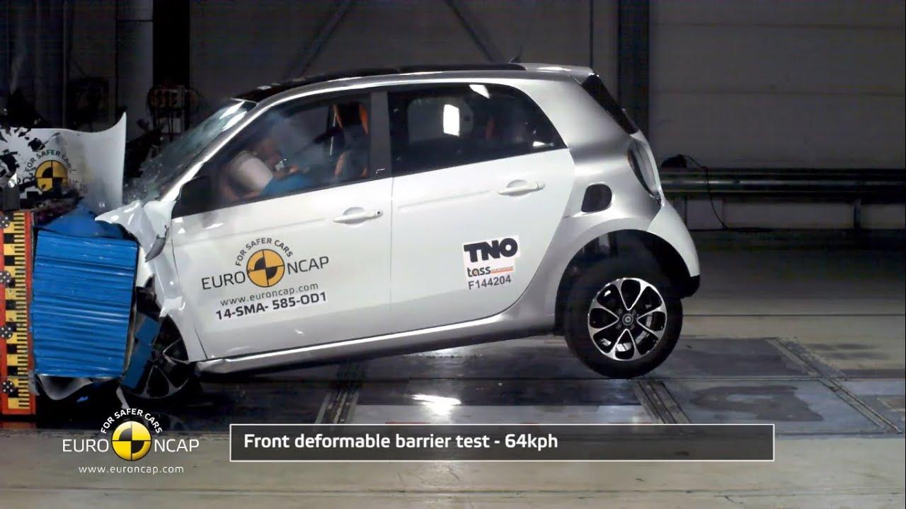 Euro Ncap Crash Test Of 2017 Smart Forfour 4 Star Safety Rating
