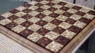 Изготовление большой шахматной доски с хаотичным рисунком