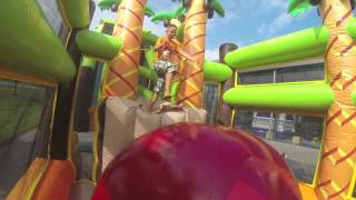 Mega obstacle course 46.5M! Jungle theme JB Inflatables