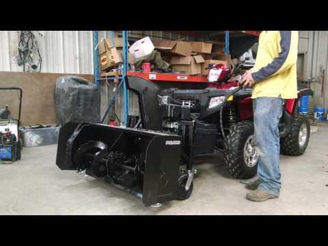 ATV snowblower homemade