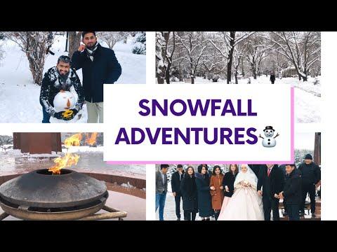 SNOWFALL IN BISHKEK KYRGYZSTAN//VLOG#02