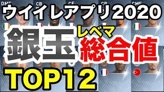 銀玉レベマ総合値TOP12!レベマ総合値91以上!?【ウイイレアプリ2020】
