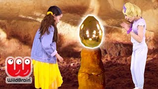 Princesses Hunt For Giant Magic Dragon Eggs 🐉 Princesses In Real Life | WildBrain Kiddyzuzaa