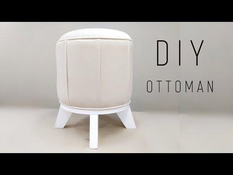 КРУГЛЫЙ ПУФ своими руками мебель DIY Ottoman