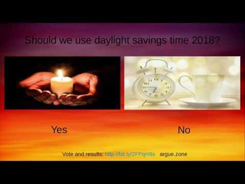 should we use daylight savings time 2018