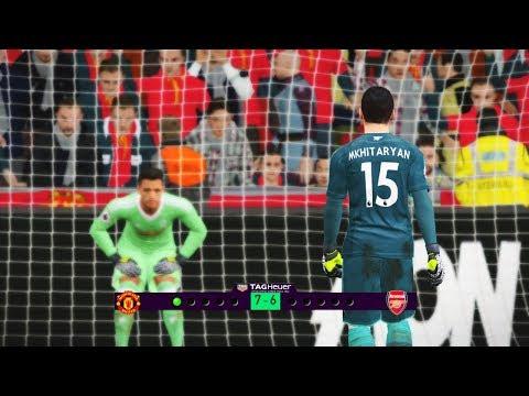 Goalkeeper A. Sanchez Vs Goalkeeper H. Mkhitaryan | Man Utd Vs Arsenal | Penalty Shootout | PES