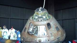 Original Apollo16 capsule and parachute at US Space & Rocket Center, Huntsville