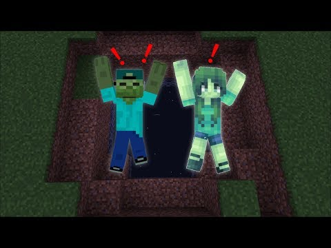 FRIENDLY ZOMBIE MARK FALLS INTO THE VOID In Minecraft!!