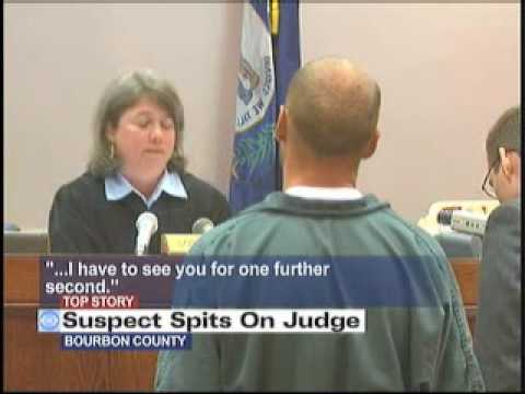 Suspect spits on judge during arraignment