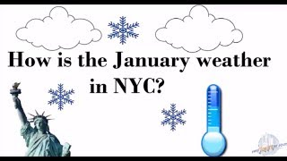 How is the January Weather in NYC