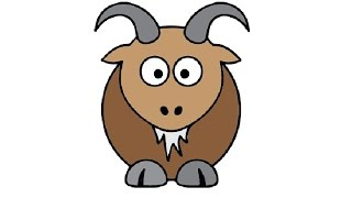 How to Draw a Cute Goat Easy step by step / Как нарисовать козу