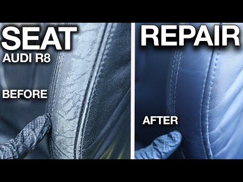How to Repair Damaged Car Seat Audi R8 Leather Repair Steps