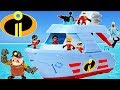 The Incredibles 2 Underminer Digger and Hydroliner Ship Elastigirl saves the Day!