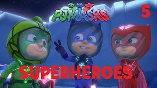 Superheroes on the Moon! Shorts Compilation Part 1 | PJ Masks | Disney Junior
