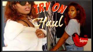 Try On Clothing Haul Summer + Supreme Fanny Pack | Simplykash