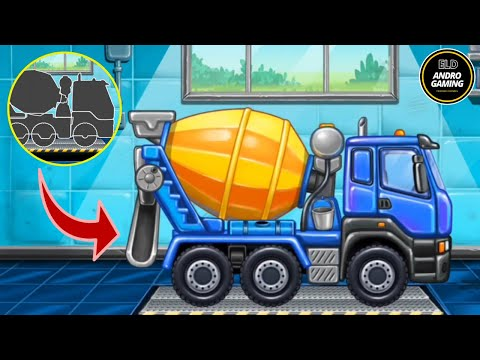 Assembling and Operating Drill Machine, Iron Truck & Coal Drilling Machine - Truck Games For Kids