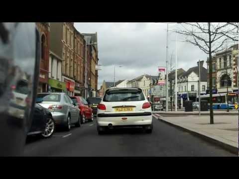 Riding Through Portadown Town Centre