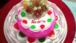 Birthday Cake for Rawin Birthday Party | Birthday Cake at 3A Bakery in Phnom Penh City