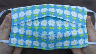 Face Mask Sewing Tutorial   How to make Face Mask with Filter Pocket   DIY Cloth Face Mask