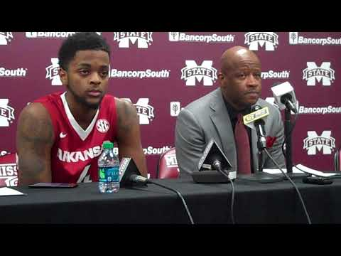 Daryl Macon, Mike Anderson Mississippi State postgame 1-2-18