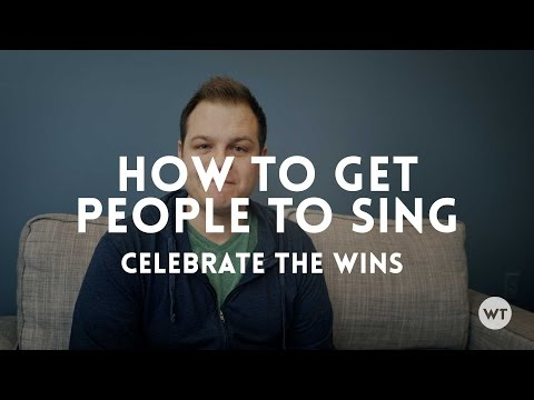 Thoughts on how to get people to sing in church