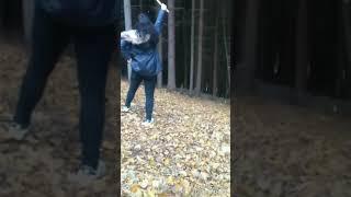 Girl fail on the swing 👌😂