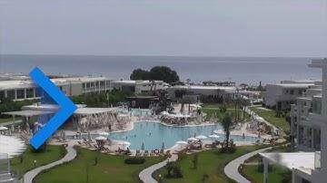 Webcam vom schönen und ruhigen Sand-Kieselstrand von Afandou auf Rhodos
