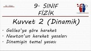 9. SINIF FİZİK - KUVVET 2 (DİNAMİK)