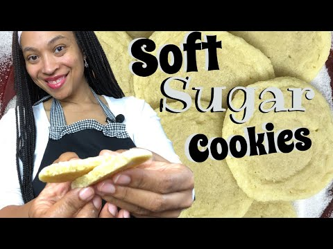 Soft Sugar Cookies Recipe | How to make Chewy Sugar Cookies | Soft and Chewy Sugar Cookies