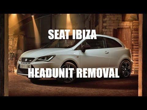 Seat Ibiza Headunit Stereo Removal Mk5 2012
