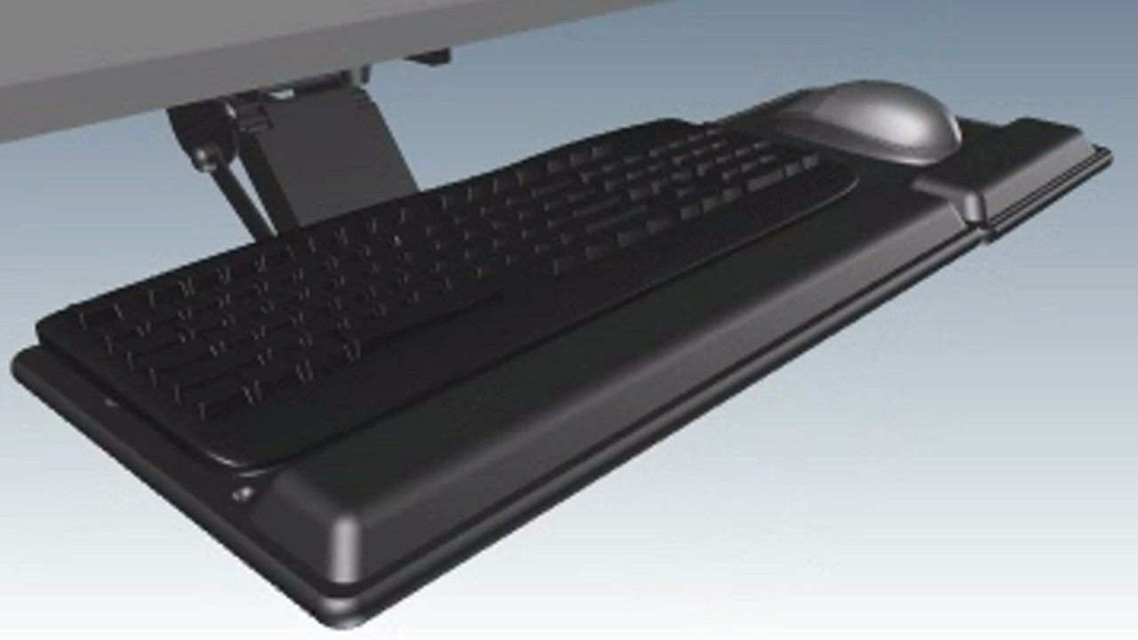 Genial Fellowes 8017901 Designer Suites Premium Keyboard Tray
