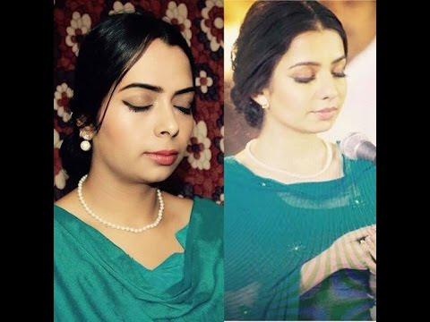 jasmine sandlas inspired makeup  simple punjabi look