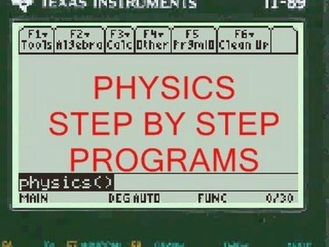 ti titanium physics program calculator app step by step ti 89 titanium physics program calculator app step by step