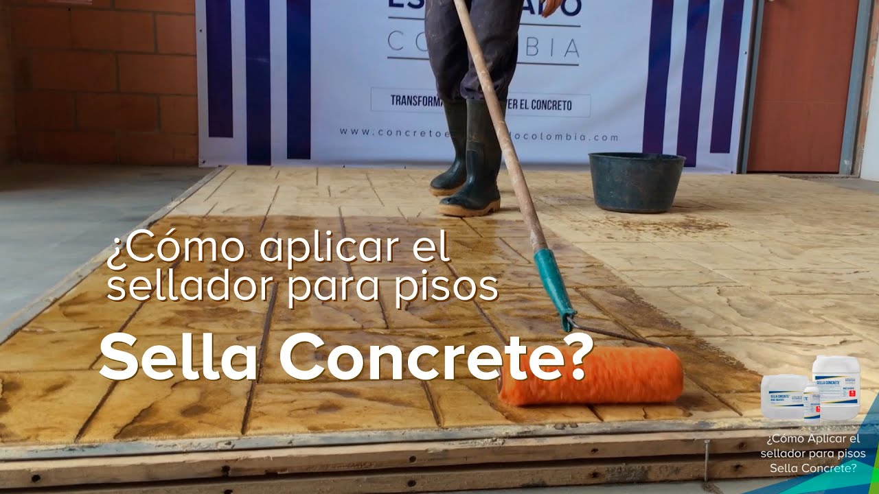 C mo aplicar el sellador para pisos sella concrete youtube for Piso de concreto cera cocina