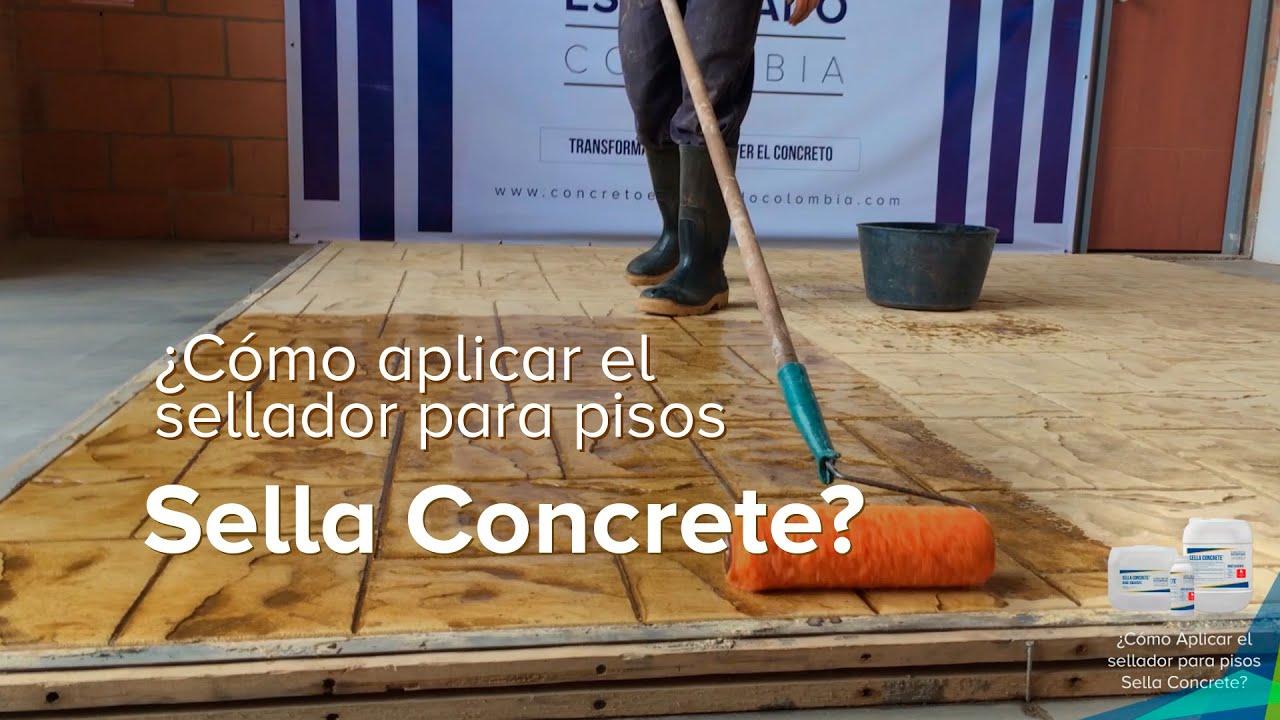 C mo aplicar el sellador para pisos sella concrete youtube - Como puedo sacar brillo al piso de terrazo ...