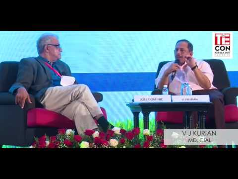 V J Kurian, MD,CIAL in conversation with Jose Dominic, MD-CGH Earth at TiECON Kerala 2017