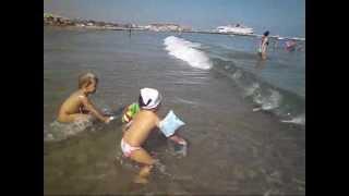КРИТ  РЕТИМНО Пляж. Crete Rethimno Beach  Goldfish Еxcursions Rethimnon(Как мы провели лето .Ретимно Крит. 2012., 2013-02-09T19:25:55.000Z)