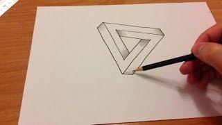 Üç boyutlu kolay çizimler - ücgen / How to draw 3D