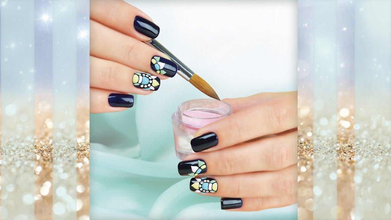 Sweet Bloom - Свит Блюм на коротких ногтях - Объемный дизайн гель-лаком