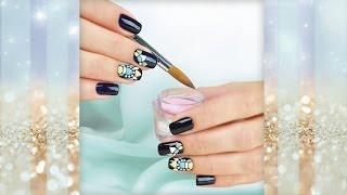 Sweet Bloom - Свит Блюм на коротких ногтях - Объемный дизайн гель-лаком(Предлагаем наш вариант выполнения объемного дизайна на коротких ногтях с темным фоном. Для придания объема..., 2016-10-04T15:53:54.000Z)