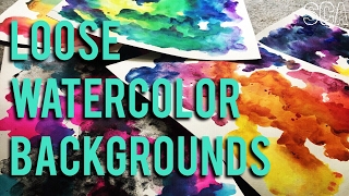 easy loose watercolor background techniques tips