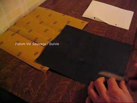 aiguisage au papier de verre youtube. Black Bedroom Furniture Sets. Home Design Ideas