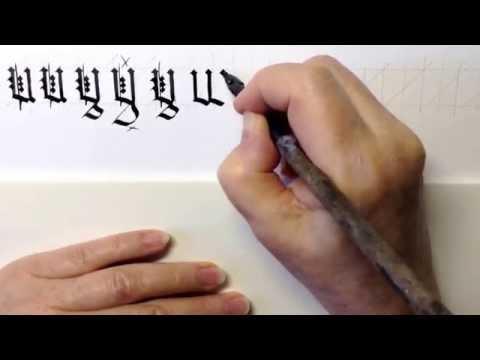Gothic Book Script (Black Letter) Capital Letters 5