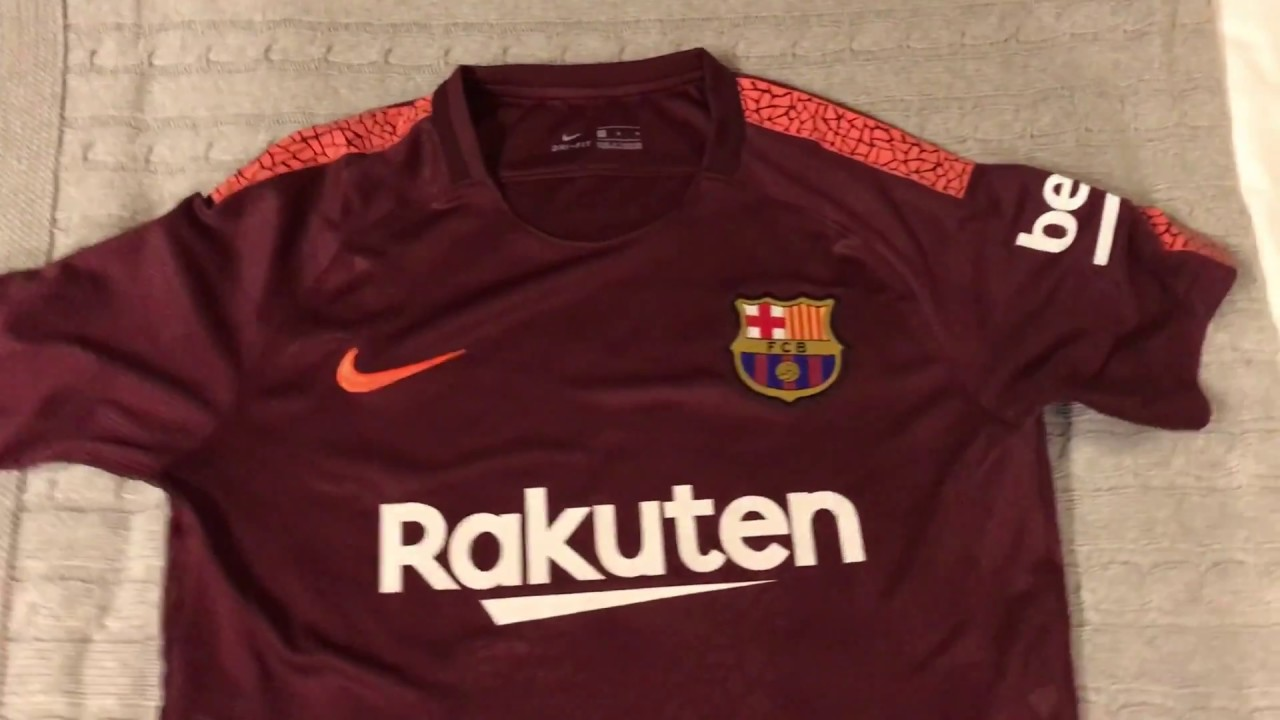 a2e0a7470 Minejerseys.com FC Barcelona 17-18 3rd Jersey Unboxing Review - YouTube