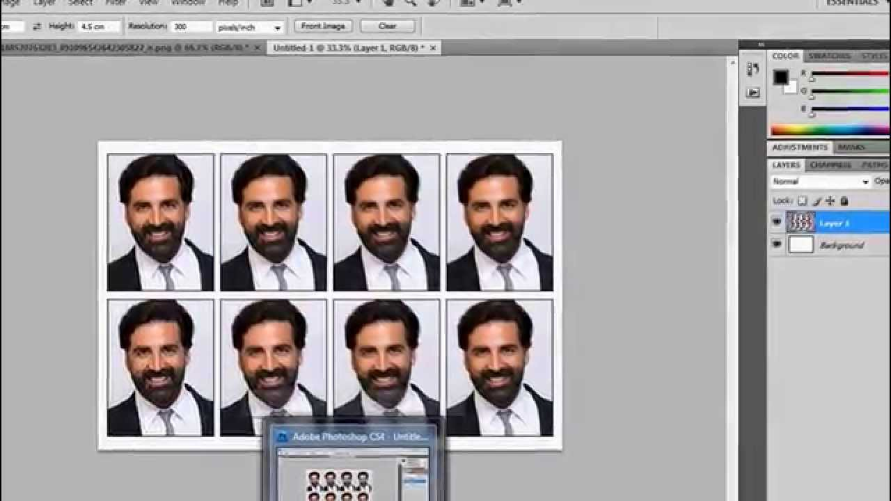 How To Make Passport Size Photo In Photoshop CS4
