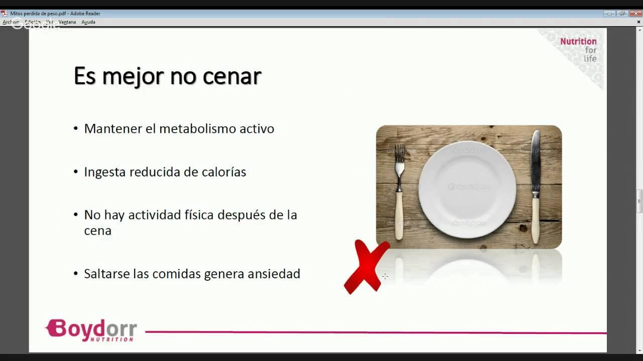 Mitos sobre la pérdida de peso - YouTube