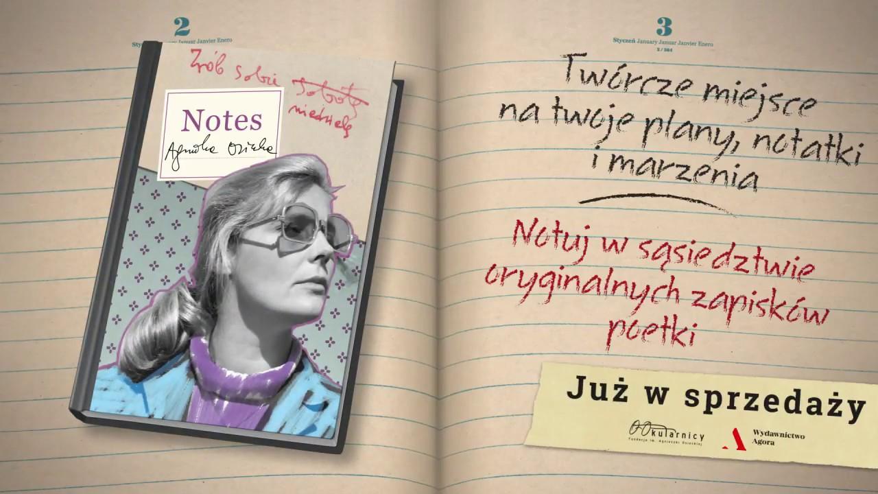 Notes artystyczny Agnieszki Osieckiej – premiera | #NotesAgnieszkiOsieckiej