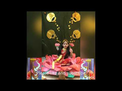 Lord laxmi slogan video by cute and little girl