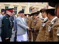 Prime Minister KP Oli Visited the Gurkhas of UK   Great Welcome Parade by the Nepalese Gurkhas